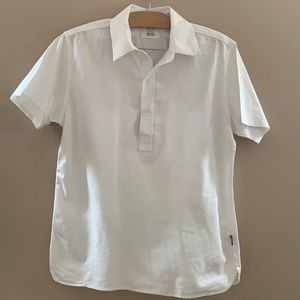 Billy Reid men's white short sleeve cotton shirt M